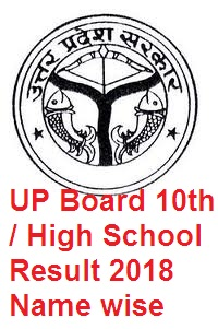 UP Board 10th Result 2018 name wise, UP High School Result 2018.jpg