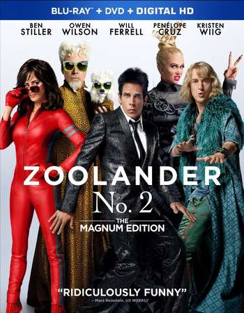 Poster Of Zoolander 2 2016 English 350MB BRRip 720p ESubs HEVC Free Download Watch Online Worldfree4u