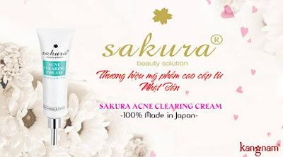 kem trị mụn sakura tốt nhất có nguồn gốc từ đâu