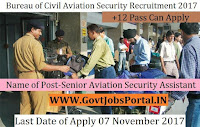 Bureau of Civil Aviation Security Recruitment 2017 121 Senior Aviation Security Assistant