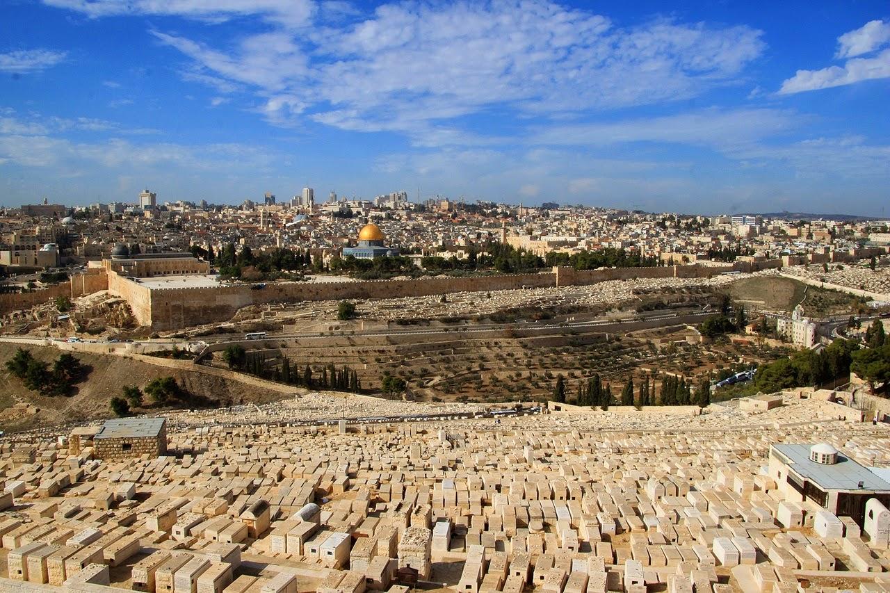 vistes de Jerusalem del Mont de les Oliveres