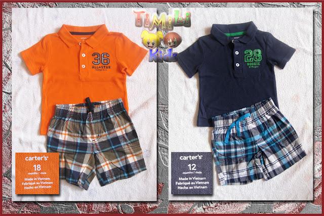 Set áo thun, quần short Carter - Áo vải mỏng, mát, mịn.