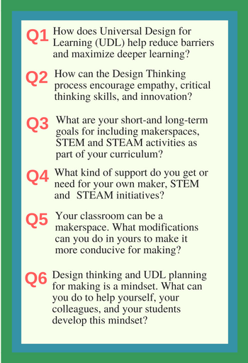 Personalize Learning Design Thinking And Udl For Makerspaces In