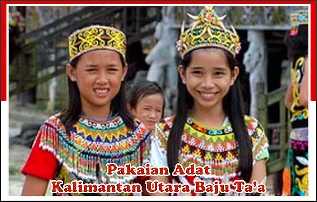 Gambar Pakaian Adat Kalimantan Utara Baju Ta'a