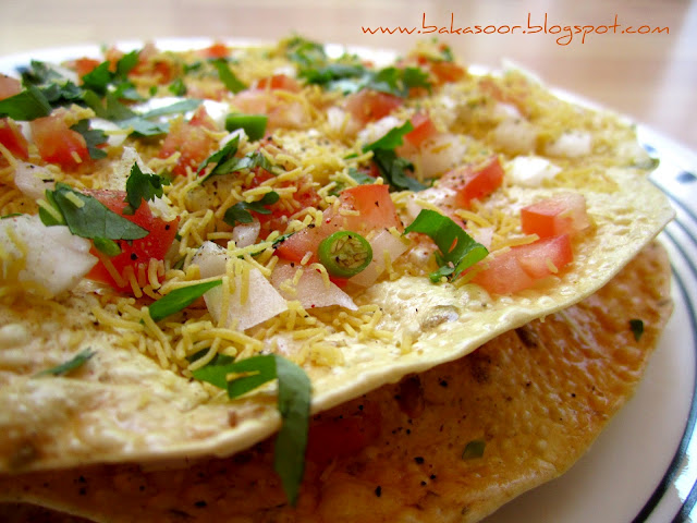 BaKaSoor..: Masala Papad (No fry)
