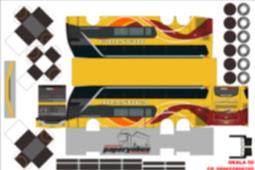 Pola Paperbus Gratis - PO New Shantika Double Decker