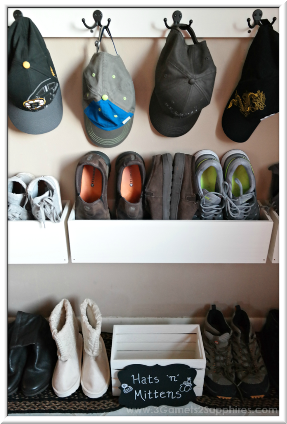 Easy DIY Shoe Organizer Project - After Photo   |  3 Garnets & 2 Sapphires