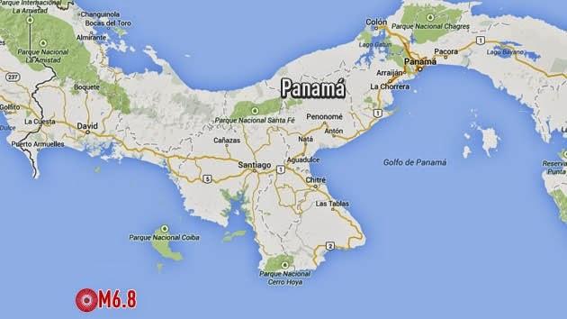 TERREMOTO 6,8º SACUDE COSTA RICA Y PANAMA 13 DE MAYO 2014