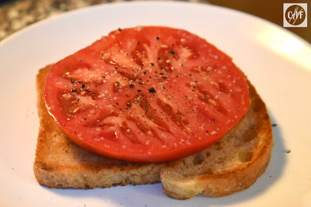 How to eat all those tomatoes: open-faced tomato sandwich on griddled sourdough bread recipe