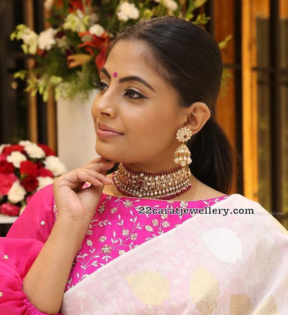 Vinitha Siddeswari Pachi Work Choker