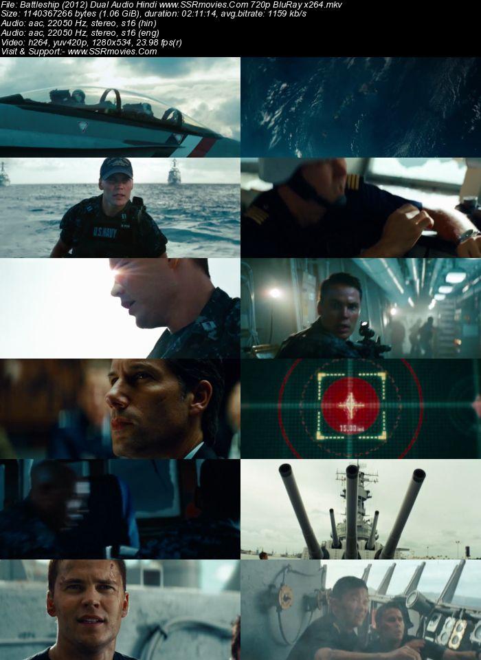 Battleship (2012) Dual Audio Hindi 720p BluRay x264 1.1GB Movie Download