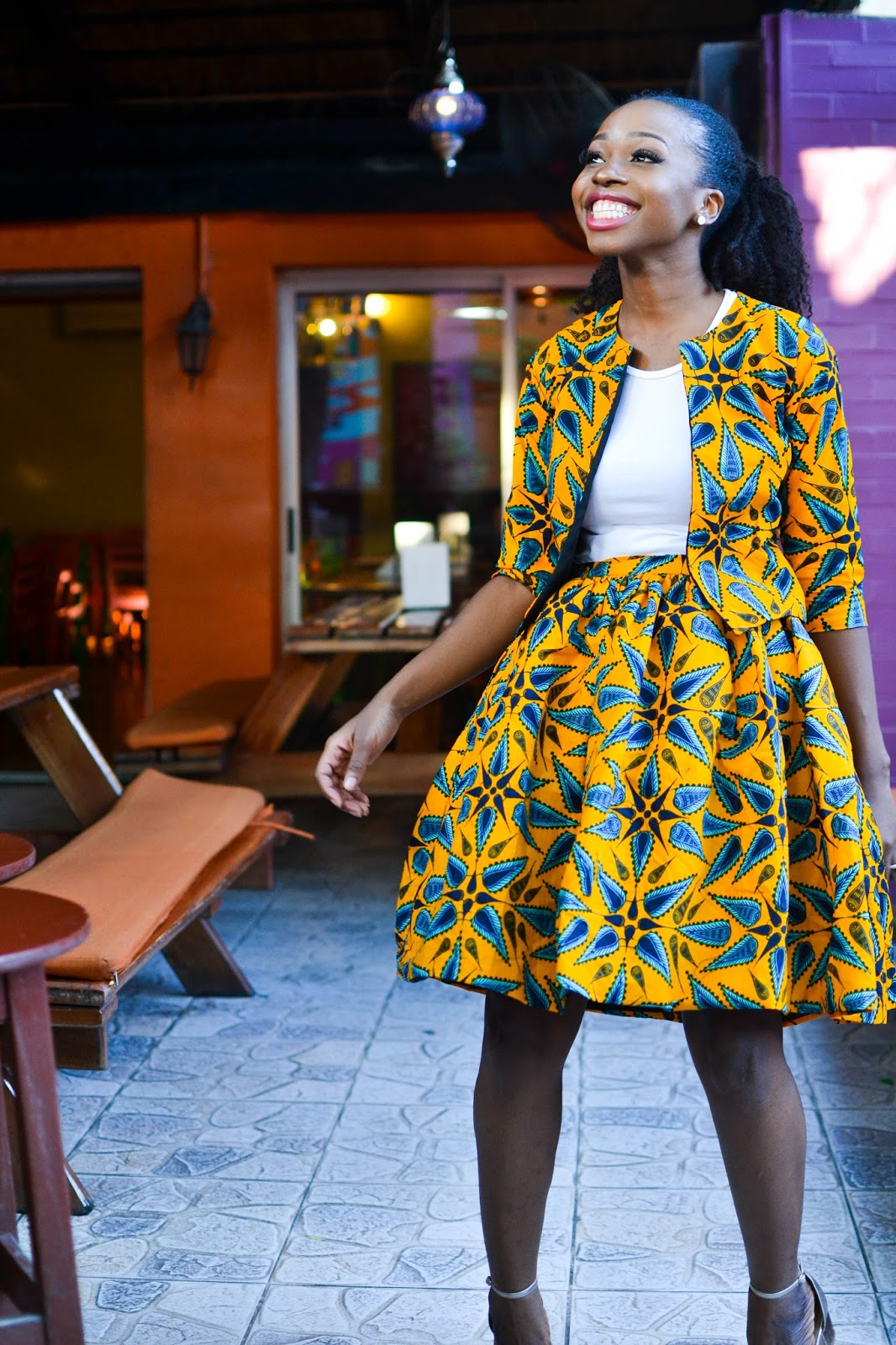 Vibrant Prints on a Nigerian Fashion Blogger