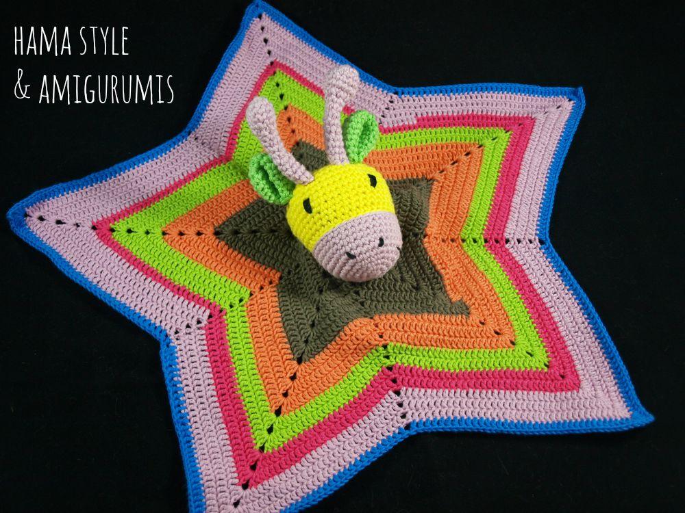 Marta Ruso Crochet Creativo: Mantita de apego ESTRELLA ...