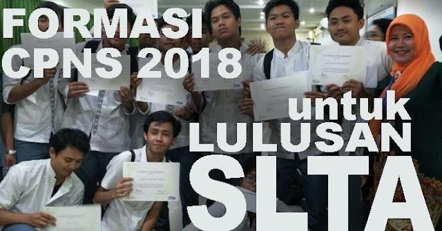 Formasi CPNS 2018 untuk Lulusan SMA SMK dan STM