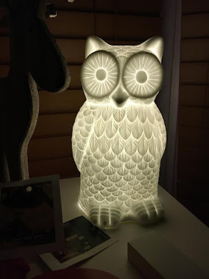 New Owl Lamp Decor