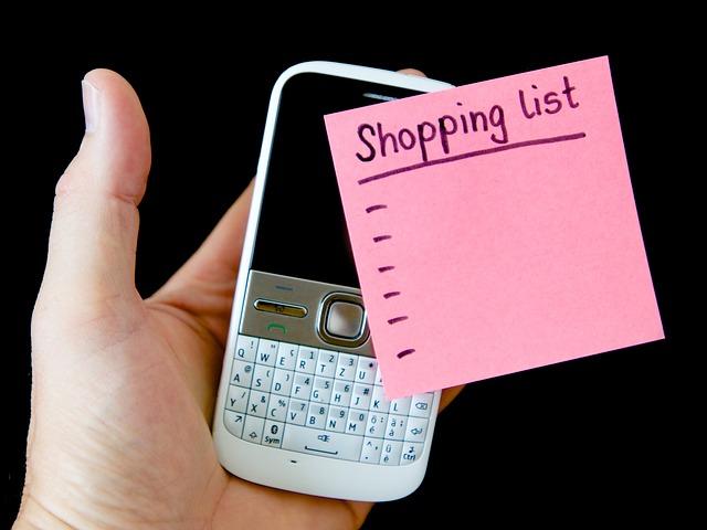 lista de la compra postit