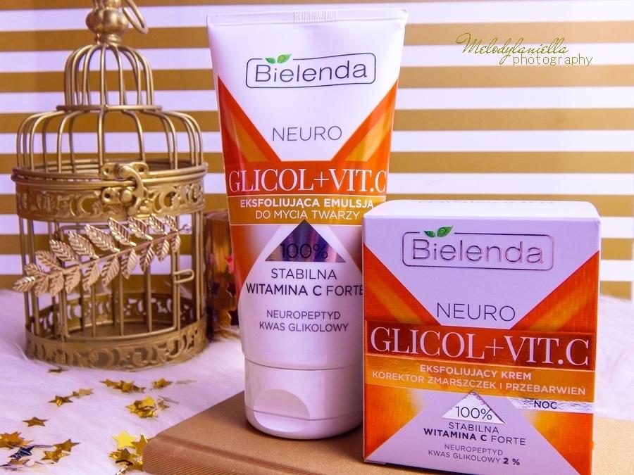 2 bielenda neuro glicol vit c eksfoliujaca emulcja do mycia twarzy z witaminą c eksfoliujący krem korektor zmarszczek i przebarwien krem do twarzy żel do mycia recenzja