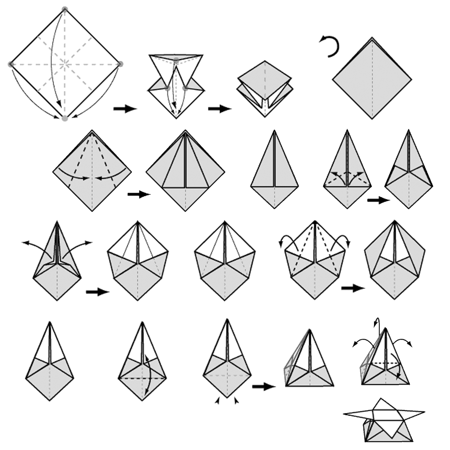 Printable Origami Box Diagram Online Schematic Diagram