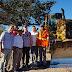 João Leão visita o inicio das obras da estrada que liga Barra à Pilão Arcado