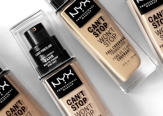 NYX Cant Stop Wont Stop Full Coverage Foundation Review