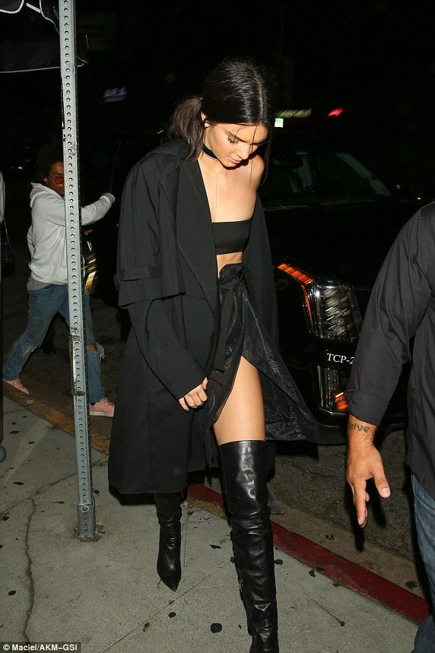 Kylie Jenner steps out in see-through jumpsuit for her 19th birthday celebration