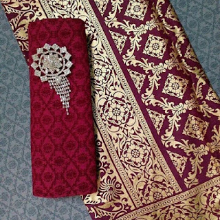 Kain Batik dan Embos 934 Prada Maroon