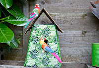 http://www.pillarboxblue.com/tropical-fabric-birdhouse-decoration/