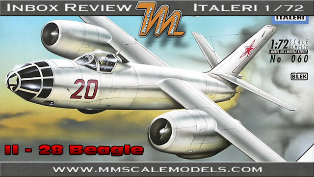 Ilyshin Il-28 Beagle, Italeri 1/72 scale model kit Nr. 060 - inbox review