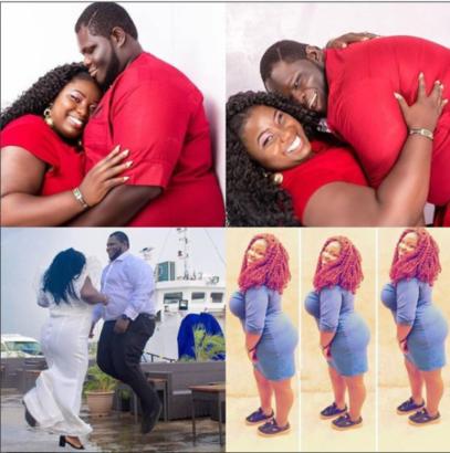 Viral pre-wedding photos of a plus size couple