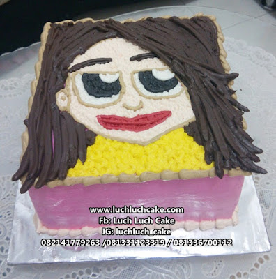 Kue Tart Ulang Tahun Gambar Wajah