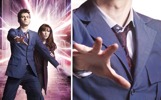 10th Doctor blue suit lapels