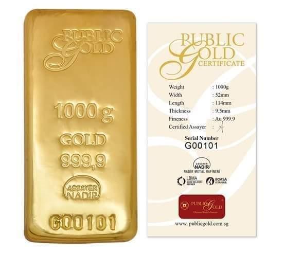 Jongkong Emas 1000 gram Public Gold