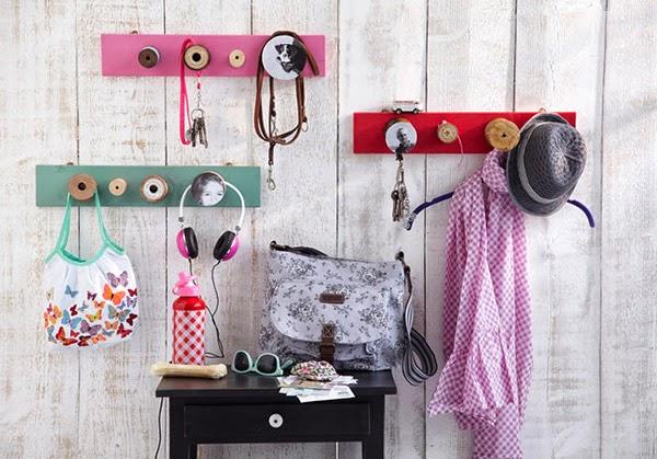 Twelve Inspiring DIY Projects - Door Knob and Spool coat racks