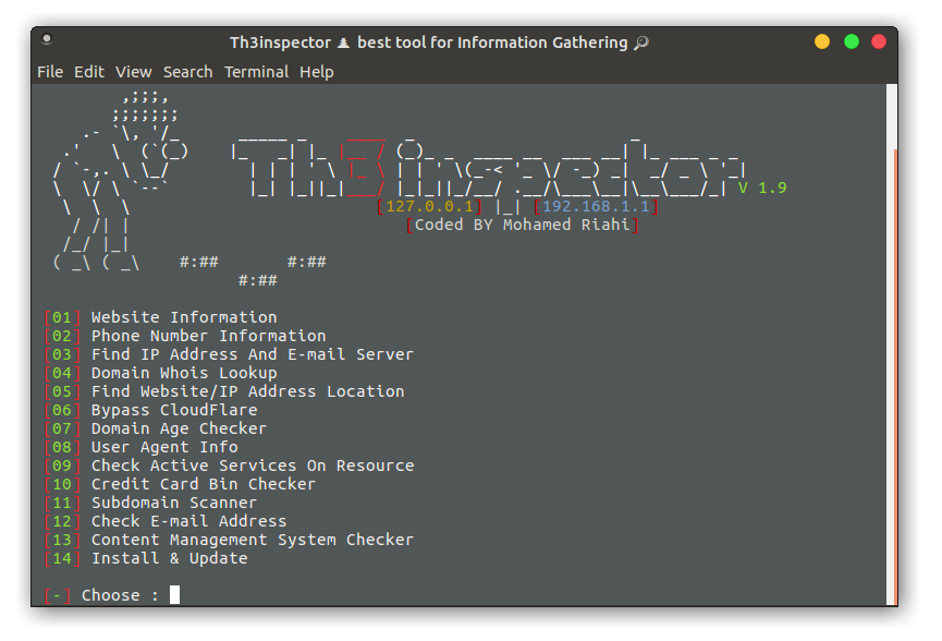 Th3Inspector - Tool for Information Gathering