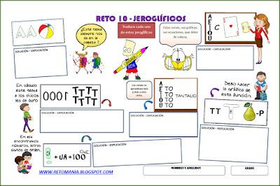 Jeroglíficos, Jeroglífico, Jeroglíficos escolares, Jeroglíficos con solución, Jeroglíficos para niños, Retos Matemáticos, Desafíos Matemáticos, Problemas Matemáticos