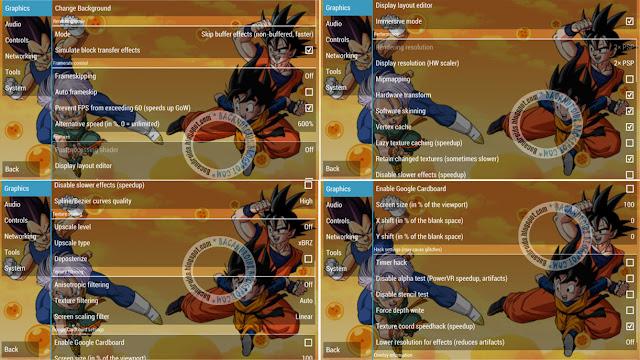 Cara setingan Dragon Ball Z Tenkaichi Tag Team Dengan Lancar