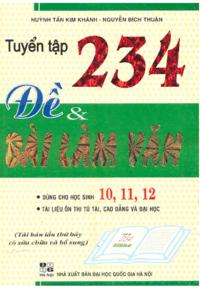 Tuyển Tập 234 Đề và Bài Làm Văn - Nguyễn Bích Thuận