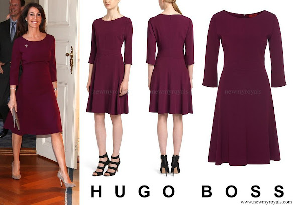Princess Marie wore HUGO BOSS Kusima Fitted Dress