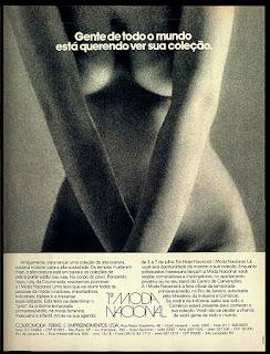 moda anos 70; propaganda anos 70; história da década de 70; reclames anos 70; brazil in the 70s; Oswaldo Hernandez