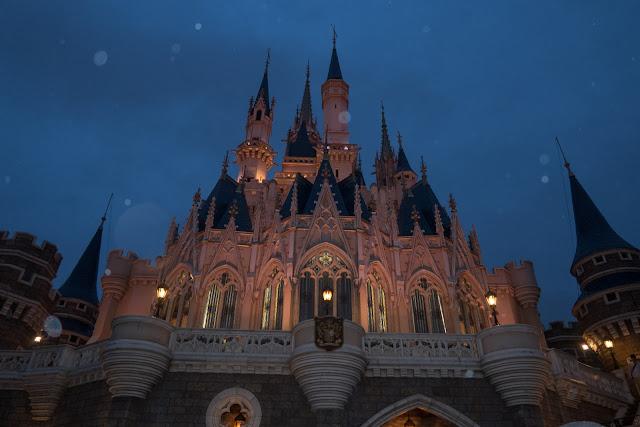 Tokyo Disney castle at night