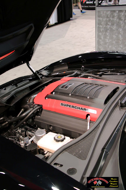 This 2016 Lingenfelter supercharged Z06 Corvette convertible generates 800 HP and 800 lb-ft of torque. The 8-speed paddle shifted automatic transmission carries this prodigious power rating quite nicely.
