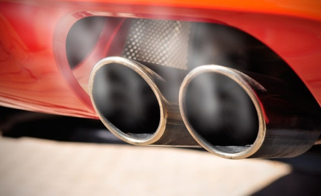 sport car pipes emission