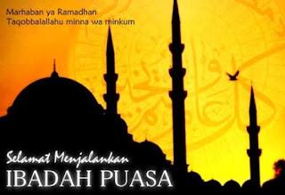 Gambar Ucapan Marhaban Ya Ramadan Selamat Menunaikan Ibadah Puasa