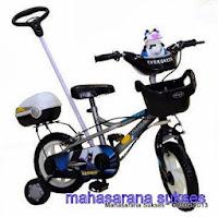 Sepeda Anak Evergreen EG1290 DARKMAN Tongkat Kemudi 12 Inci