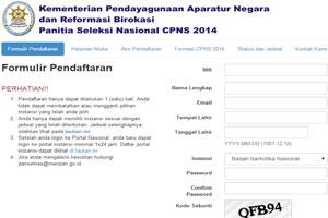 Gambar Panselnas.Menpan.go.id: Pendaftaran CPNS Online 2016
