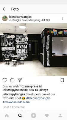 Lukis mural khas kafe di Lele Crispy bangka