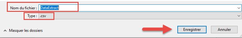 Enregsitrement du fichier csv converti