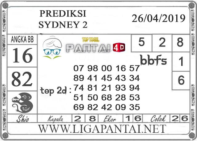 """Prediksi Togel """"SYDNEY 2"""" PANTAI4D 26 APRIL 2019"""