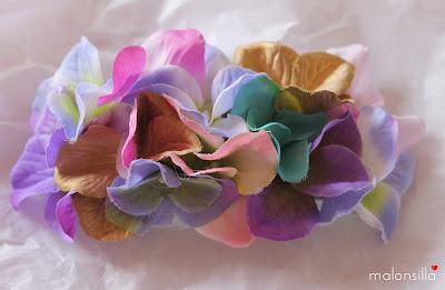Adorno desmontable del canotier, flores colores pastel