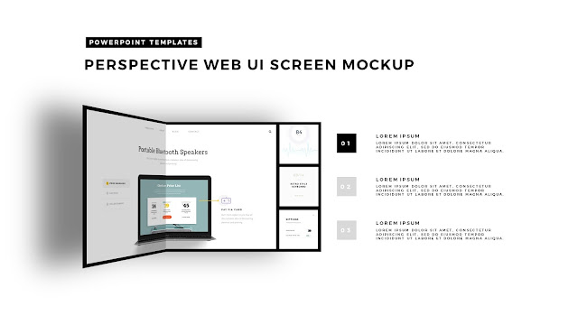 Perspective Folding Effects in Free PowerPoint Template with Black Folder